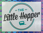 Custom Printed Contour Cut The Little Hopper Caravan Vinyl Stickers