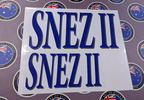 Custom Printed Contour Cut Snez II Vinyl Business Stickers