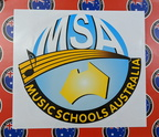 Custom Printed Contour Cut Musical School Australia Vinyl Business Stickers
