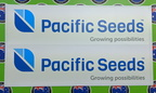 Custom Printed Contour Cut Pacific Seeds Vinyl Business Logo Stickers