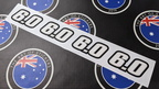Custom Printed Contour Cut 6.0 Vinyl Business Stickers