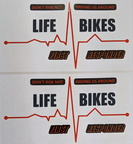 Custom Printed Contour Cut Life Bikes Vinyl Business Stickers
