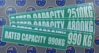 Custom Printed Contour Cut Rated Capacity Various Vinyl Business Stickers