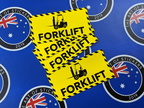 Custom Printed Contour Cut Die-Cut Forklift Vinyl Business Stickers