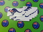 Catalogue Printed Contour Cut Die-Cut Australia Flag Kangaroo Vinyl Stickers