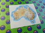 Catalogue Printed Contour Cut Map of Australia Vinyl Stickers