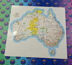 Catalogue Printed Contour Cut Map Of New Australia Vinyl Stickers