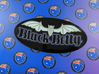 Custom Printed Contour Cut Die-Cut Black Betty Vinyl Business Logo Stickers