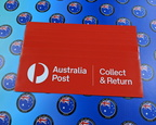 Custom Printed Contour Cut Die-Cut Australia Post Collect And Return Vinyl Business Stickers
