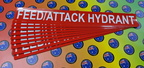 Custom Printed Contour Cut Die-Cut Feed/Attack Hydrant Vinyl Business Stickers