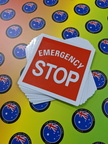 Custom Printed Contour Cut Die-Cut Emergency Stop Vinyl Business Stickers