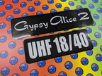 Custom Printed Contour Cut Die-Cut Gypsy Alice 2 UHF Channel Vinyl Business Stickers