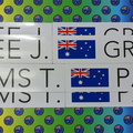 Custom Printed Contour Cut Die-Cut Australian Flag Name Vinyl Business Stickers
