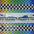 Custom Printed Contour Cut Rudd's Towing Vinyl Business Stickers