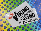 Custom Printed Viking Excavations Business Car Magnets