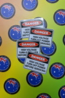 Catalogue Printed Contour Cut Die-Cut Danger High Voltage Vinyl Business Stickers