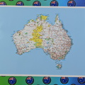 Catalogue Printed Hand Cut Map of Australia Rectangle Panel Sticker