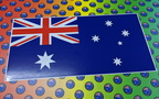 Catalogue Printed Hand Cut Australian Flag Vinyl Stickers