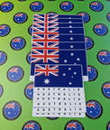 Catalogue Printed Contour Cut Die-Cut Australian Flag with Lettering Vinyl Stickers