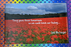 Custom Printed Lest We Forget Anzac Day Canvas Signage
