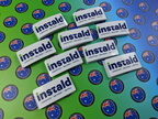 Bulk Custom Printed Clear Contour Cut Die-Cut Instald Vinyl Business Logo Stickers