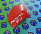 Bulk Custom Printed Contour Cut Die-Cut Emergency Stop Vinyl Business Stickers