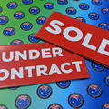 Bulk Custom Printed Contour Cut Die-Cut Sold Under Contract Vinyl Business Stickers