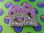 Bulk Custom Printed Contour Cut Die-Cut Tapinbuds Vinyl Business Logo Stickers