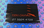 Custom Printed Die-Cut Ozki Canvas Vinyl Business Logo Stickers