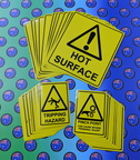 Bulk Custom Printed Contour Cut Die-Cut Various Warning Vinyl Business Stickers