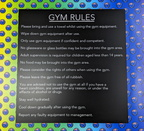 Custom Printed ACM Gym Rules Business Signage
