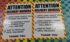 Custom Printed Corflute Attention Delivery Drivers Business Signage