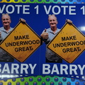 Custom Printed Vote 1 Barry Corflute Business Signage