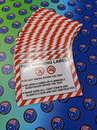 Custom Printed Fire Warning Business Banner Label Signage