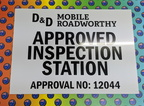 Custom Printed D&D Mobile Roadworthy Inspection Station ACM Business Signage