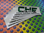 Custom Printed Central Highlands Fabrications Business Logo Banner Label Signage
