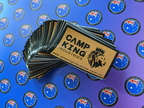Custom Printed Camp King Business Logo Banner Label Signage