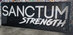 Custom Vinyl Cut Sanctum Strength ACM Business Logo Signage