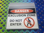 Custom Printed Corflute Danger Exclusion Zone Business Signage