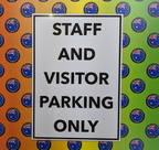Custom Printed Staff and Visitor Parking Only ACM Business Signage