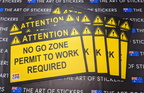 Custom Printed CPB Contractors Attention No Go Zone Corflute Business Signage
