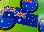Catalogue Printed Contour Cut Die-Cut Australia Flag Vinyl Stickers