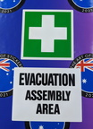 Catalogue Printed Contour Cut First Aid Die-Cut Evacuation Assembly Area Vinyl Business Stickers