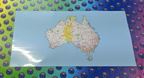 Catalogue Printed Hand Cut Australian Map Panel Vinyl Stickers