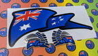 Catalogue Printed Contour Cut Die-Cut Australia Wave Vinyl Stickers