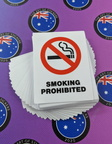 Bulk Catalogue Printed Contour Cut Die-Cut Smoking Prohibited Vinyl Business Signage Stickers
