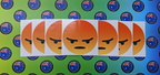 Catalogue Printed Contour Cut Die-Cut Angry Face Vinyl Stickers