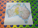 Catalogue Printed Contour Cut Australian Map Vinyl Sticker