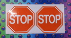 Catalogue Printed Contour Cut Stop Sign Vinyl Stickers