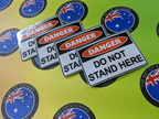 Catalogue Printed Contour Cut Die-Cut Danger Do Not Stand Here Vinyl Business Stickers